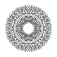 black Circle Geometric Ornament floral Vector Graphic