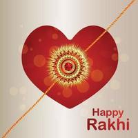 tarjeta de felicitación de invitación feliz rakhi con ilustración vectorial para feliz raksha bandhan vector