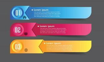 modern text box template, banner Infographics vector