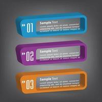plantilla de cuadro de texto moderno, infografía de banner vector