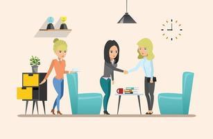 reunión de negocios. trabajo en equipo trabajo compartido vector