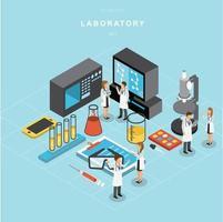 Isometric laboratory vector design