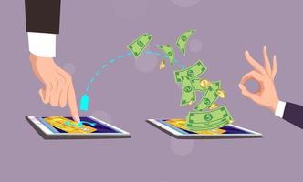 concepto de pago móvil. ilustración vectorial. vector