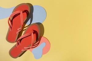 Red flip flops photo