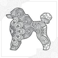 Dog Mandala. Vintage decorative elements. Oriental pattern, vector illustration.