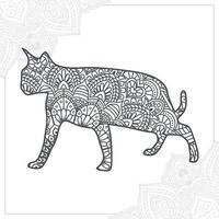 mandala de gato. elementos decorativos vintage. patrón oriental, ilustración vectorial. vector
