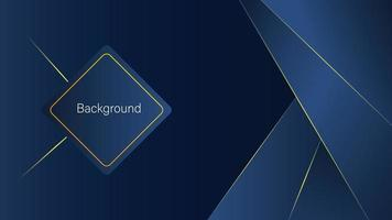 Abstract background, dark blue background and yellow lines vector
