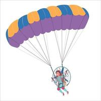 Paraglider in the air vector