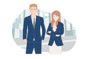 Business management team portrait vector