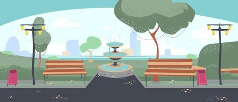 The garden or park in the center of city vector