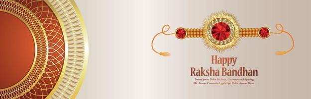 Happy rakhi festival of brother and sister celebration banner or header vector