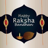 Indian festival happy raksha bandhan celebration greeting card vector