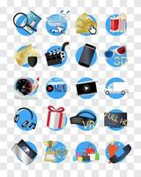 Online movies store icons vector