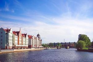 paisaje urbano con vistas a la arquitectura y atracciones. foto
