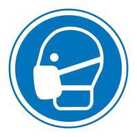 Symbol wear masks Sign vector