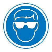 Symbol Wear Safety Glasses vector