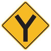 Señales de advertencia y cruce sobre fondo blanco. vector
