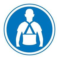 Wear Back Support Symbol Sign vector