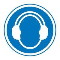 Symbol Wear hearing protection vector