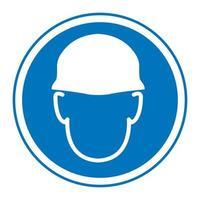 Wear helmet Sign symbol vector