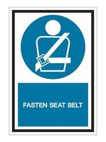 Wearing a seat belt Symbol Sign On White Background vector