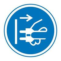 Disconnect Plug From Electrical Outlet Symbol Sign vector