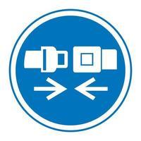 Wear Safety Belt Symbol Sign vector