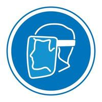 Symbol Face Shield Must Be Worn sign vector