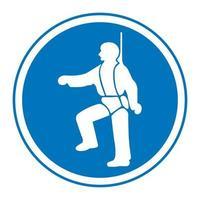 arnés de seguridad debe ser usado símbolos signo vector
