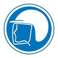 use el símbolo del casco de seguridad vector