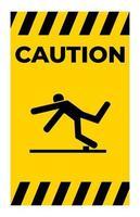Beware Trip Hazard Symbol Isolate On White Background vector