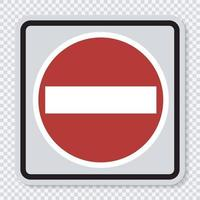 Symbol No entry sign on transparent background vector