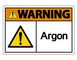 Warning Argon Symbol Sign On White Background vector