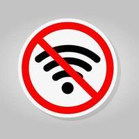 no hay señal de área wifi vector