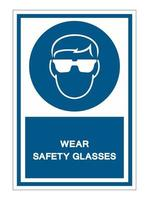 Wear Safety Glassed vector