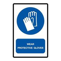 Wear Protective Gloves Symbol Sign vector