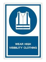 Wear High Visibility Clothing Symbol Sign vector