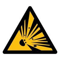 Beware Explosive Material Symbol Sign vector