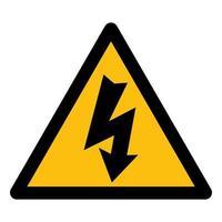 símbolo de peligro de alto voltaje vector
