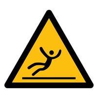 Beware Slippery Surface Symbol vector