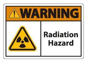 Radiation Hazard Symbol Sign vector