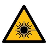 Beware Laser Beam Symbol Sign vector