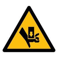Warning Moving Part Crush and Cut Symbol Sign vector