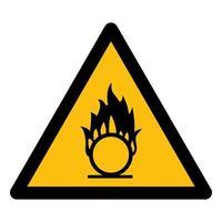Beware Oxidizing Substance Symbol vector