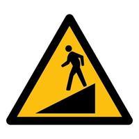 Beware Slope Symbol Sign vector