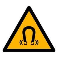 Beware Magnetic Field Symbol Sign vector