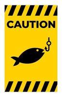 No Fishing Symbol Sign vector