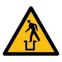 Beware Bottomless Pit Symbol Sign vector