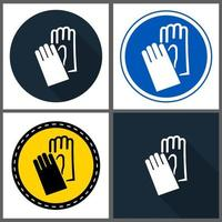 Symbol Wear Hand Protection sign vector