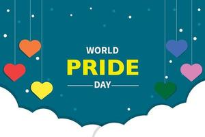 World Pride Day Background Vector
